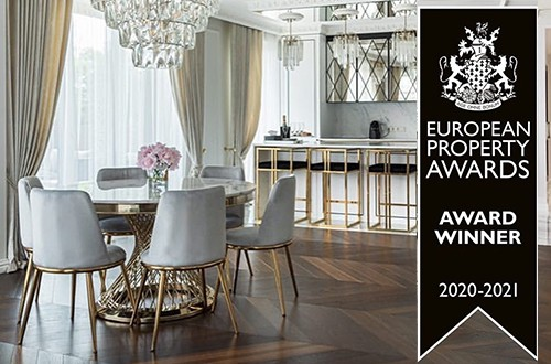 The apartment with our furniture and lighting won the prestigious award !!!