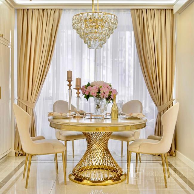Najpiękniejsze wnętrza - aranżacja glamour z meblami od Primavera Home