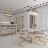 Stool glamour for dining room, bar, golden grey islands MARCO