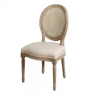 Krzesło drewniane tapicerowane w stylu prowansalskim