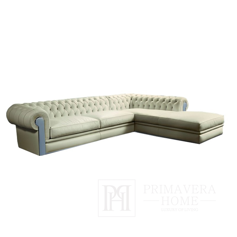 Corner Sofa Aviator With Fold Out Bedroom Function Upholstered In Glamour Style Primavera Home