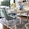 Stół rozkladany drewniany glamour do jadalni, lakierowany wysoki połysk, elegancki QUEEN