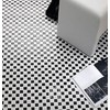 Black mosaic White Diana high gloss