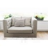 Upholstered quilted armchair modern MORIS