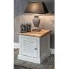 HAMPTONS weißer Nachttisch im provenzalischen Hamptons-Shabby-Chic-Stil
