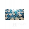 Glasmosaik mit Glitzer TURKUSOWAWA + WHITE MIX BM130