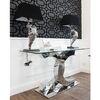 GEOMETRIC RESOURCE New Yorker Stil Geometrische Tapete Amerikanischer Stil Schwarz Grau SILBER