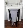 Krzesło tapicerowane do jadalni nowoczesne modern classic szare Carla