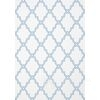 GRAPHIC RESOURCE New York Style geometrische Tapete Amerikanischer Klee Weiß & Blau Grau