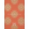 GRAPHIC RESOURCE Geometric wallpaper in New York style American English WHITE GREY RED GOLDEN