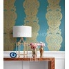 DAMASK RESOURCE Geometric wallpaper in New York style American style YELLOW WHITE Black Gray Gold GREEN