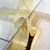 Glamour console gold steel modern transparent glass Ritz