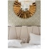 Vertikales Steppbett Glamour modern New York Style weiß ADELE SILBER