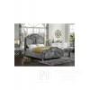 Łóżko glamour z wielkim ozdobnym guzikiem i przepięknie ułożonym materiałem Julia