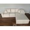 Modern glamour corner sofa with Aurelio grey bedroom function