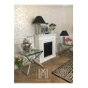 Side glamour table Conrad silver