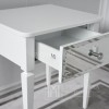Glamour mirror bedside cabinet for the Diamond white bedroom