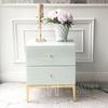 Mirror bedside cabinet with gold base for Franco Gold glamour bedroom [OUTLET]