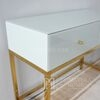 Glamour console, New York White Gold Toilet FRANCO GOLD [OUTLET]