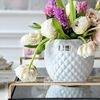 Keramik-Blumentopf Rosabelle Blume Lene Bjerre weiß