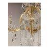 Żyrandol złoty lampa wisząca z kryształkami w stylu glamour nowojorski MARIA TERESA S GOLD