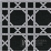 Glass mosaic Vinna Neros white, black