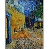 Glass mosaic Van Gogh Café terrace at night