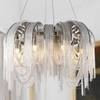 Żyrandol glamour ze srebrnych łańcuchów MADONNA M