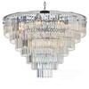 GLAMOUR silver glamour crystal pendant lamp modern steel chandelier 100 cm