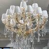 Żyrandol złoty lampa wisząca z kryształkami glamour nowojorski MARIA TERESA M Gold
