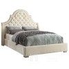 Glamour upholstered bed quilted with nails like Laura chesterfield