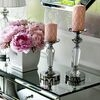 Crystal candlestick silver FLAVIO O M