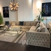 Quilted glamour corner sofa NERO