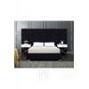 Szerokie łóżko glamour z wielkim pikowanym wezgłowiem styl sypialni glamour Fabio