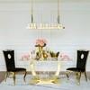 Glamour gepolstert Stahl modern Esszimmerstuhl schwarz Gold VITO 49x55x110