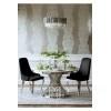 Krzesło tapicerowane CAMILLIA nowoczesne, glamour nogi stalowe, srebrne 48x53,5x99 czarne