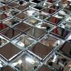 Mozaika szklana  Diamentowa+ Srebrna MIX KM124