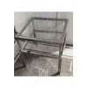 Silver coffee table with glass top BOLZANO 50X50