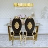 Glamor golden table with white marble top KENT