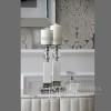 Moderne klassische Glamour-Konsole BELLA SILVER silber weiß OUTLET