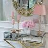 Mirror console CHICAGO GOLD on metal legs New York glamor modern 100x40x80 gold