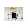 Upholstered quilted chair quilted on steel legs gold black for TIFFANY living room