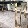 A glamor table for the dining room, stainless steel, white or black BOND SILVER top
