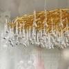 Chandelier, glamour ceiling lamp, modern hanging lamp RAIN M GOLD