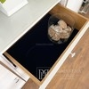 Glamour lacquered wooden chest of drawers on Lorenzo L Silver steel legs