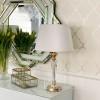 Kristall-Lampe S weiß TRINITY Gold