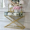 Mirror console on metal legs New York glamor modern gold CHICAGO GOLD OUTLET
