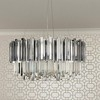 Glamour crystal chandelier EMPIRE SILVER M