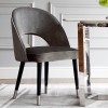 Moderner Designerstuhl gepolstert grau CARDINALE