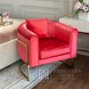 Moderner Glamour-Sessel für Wohn- und Esszimmer, gold red BENT